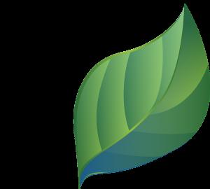 Öko-Blatt für nachhaltige Produktion